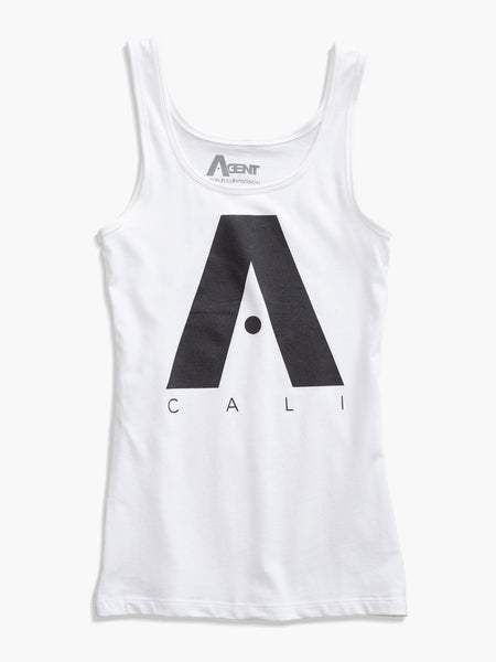 Classic A Logo Jersey Tank Top in White