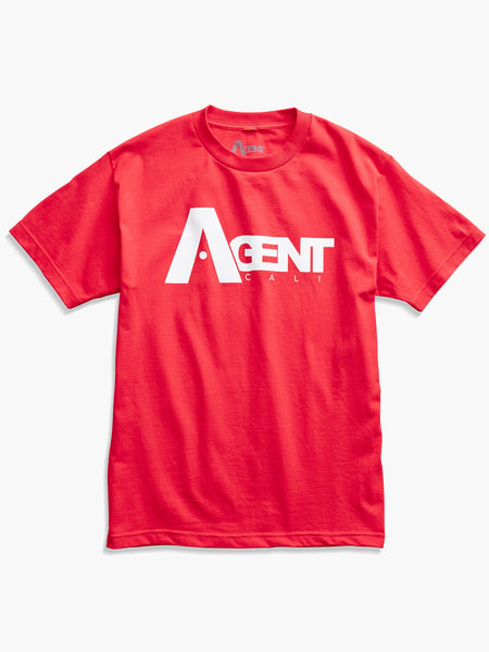 Men's AgentCali Red Logo T-Shirt Front View