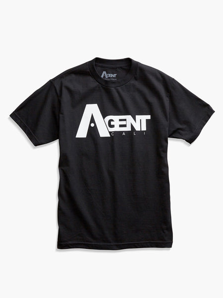 Men's AgentCali Black Logo T-Shirt Front View