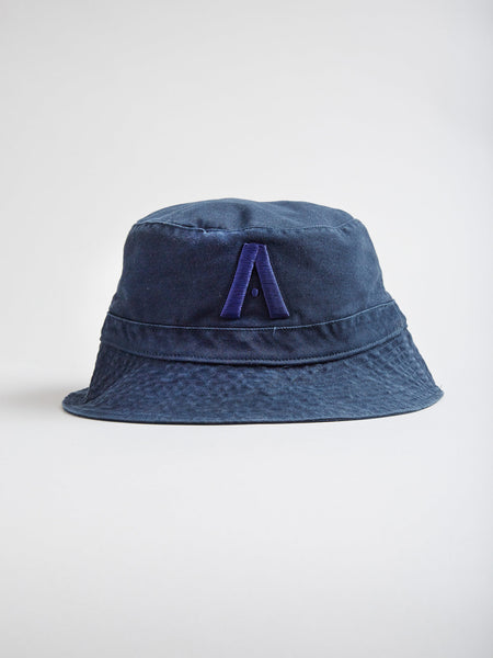 AgentCali Navy Logo A Bucket Hat Front View