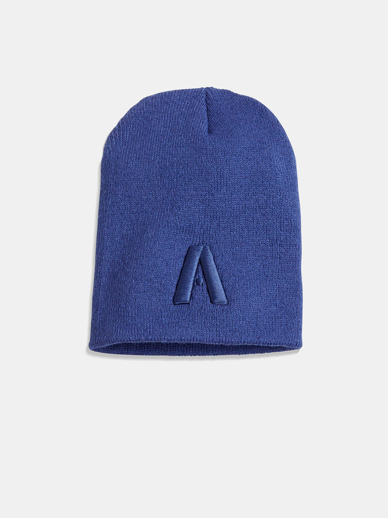 Signature A Beanie With Navy Logo