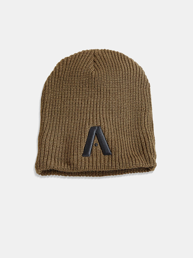 Signature A Brown Beanie With Brown Logo
