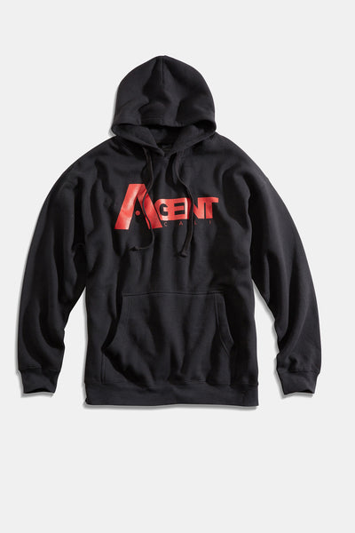 AgentCali Black with Red Logo Unisex Pullover Hoodie Sweatshirt
