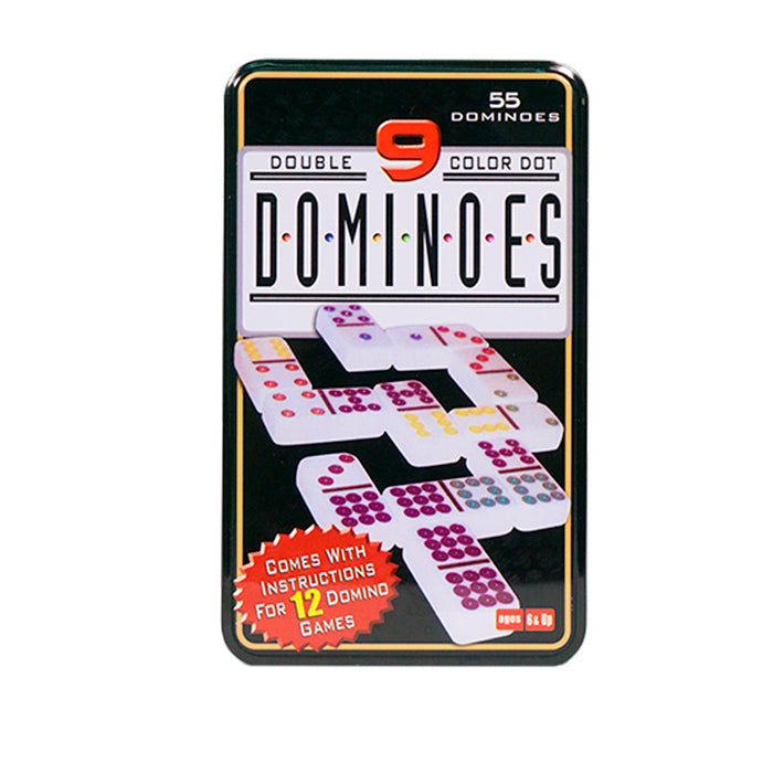 Domino X55 Fichas A Doble 9 Color Caja Metálica