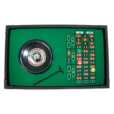 Mini Ruleta De Casino En Madera
