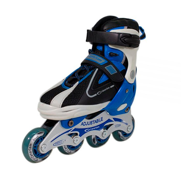 Patines Canariam Speed Figther negro-azul 31-34