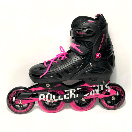 Patines Roller Points Forest Negro-fucsia