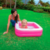 Piscina inflable 2 aros Baby Pool Play Box (Rosa) 86x86x25 cm Intex 57100NP