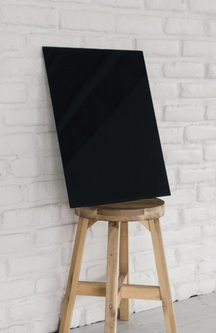 Blank Black Glass Magnet Board