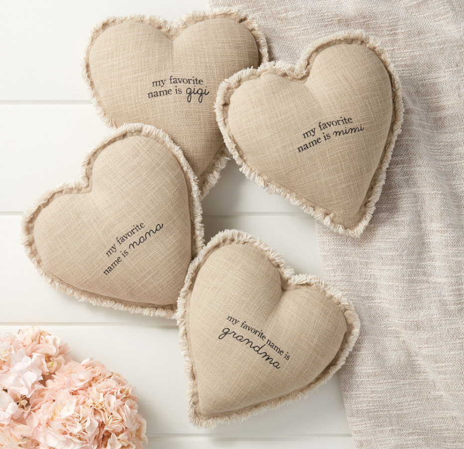 Sentiment Pillows - Grandma, Nana, Mimi, + Gigi