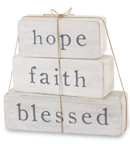 Hope, Faith, Blessed Blocks