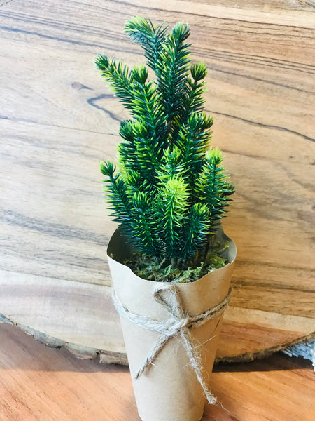 Faux Miniature Christmas Trees