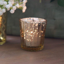 Load image into Gallery viewer, Glass gold mercury votive candle holders 5.5x6.8cmH