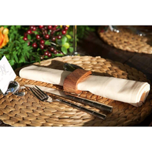 Load image into Gallery viewer, Stained wooden oval shaped napkin ring - Hire