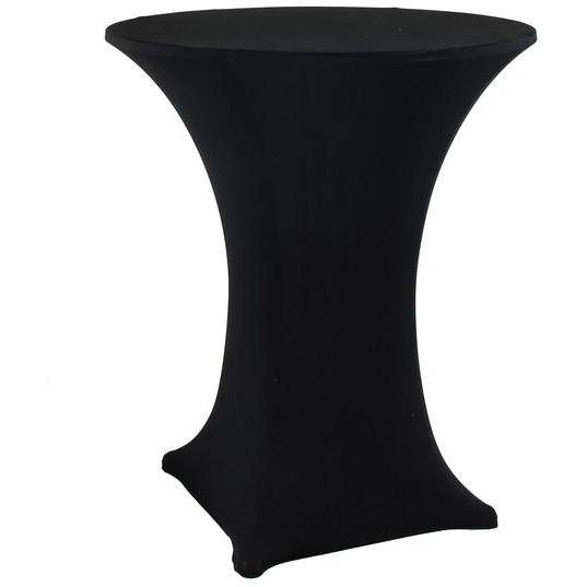 Black Fitted Dry Bar Cover - Lycra Hire 60x70cmH | LANE 88