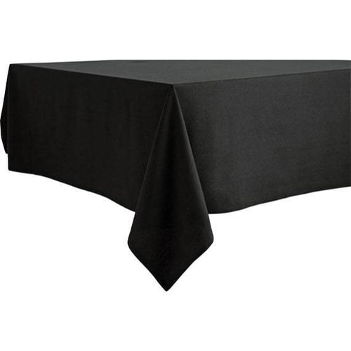 Black Rectangular Table Cloth Hire - Linen Hire Brisbane | Dianna-Lynn Decor