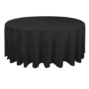 Black Round Tablecloth Hire - Linen Hire Brisbane | Dianna-Lynn Decor