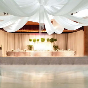 Chiffon Ceiling Draping Serviced Hire Brisbane | Dianna-Lynn Decor