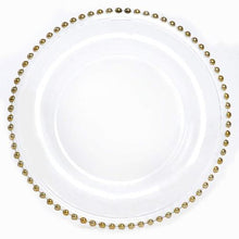 Load image into Gallery viewer, Gold Charger Plates Glass Beaded Charger Plate Hire Brisbane | LANE 88