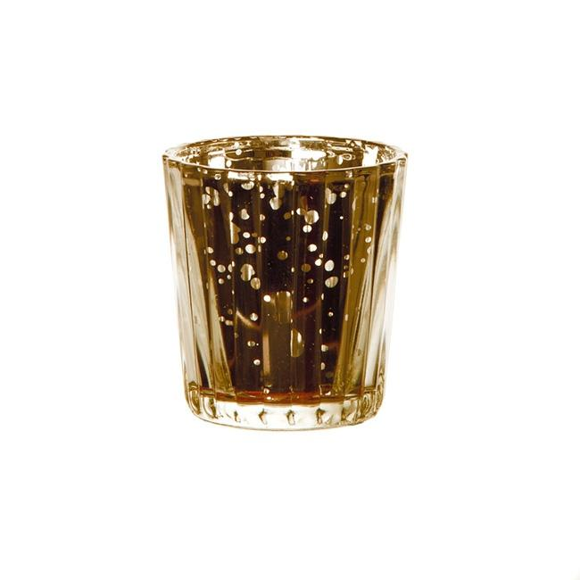 Glass Gold Mercury Votive Holder - Hire