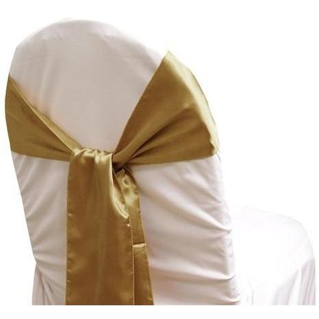 Satin Chair Sash Hire - Multiple Colours