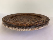 Load image into Gallery viewer, Rattan Charger Plate Hire - Brown