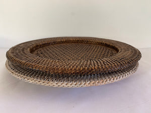 Rattan Charger Plate Hire - Brown