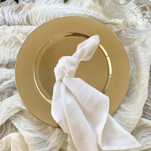 Plain Gold Mirror Finish Charger Plate Hire - Brisbane - LANE 88