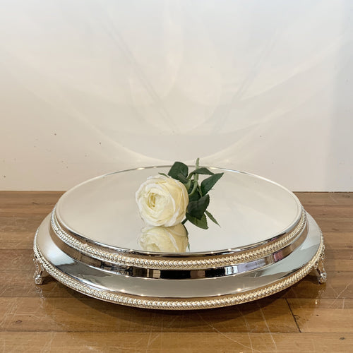 Plateau Cake Stand Hire - Silver Plated, Gold, Rose Gold | LANE 88