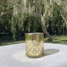 Load image into Gallery viewer, Gold Mercury Glass Votive Holder Hire (Frangipani) - W7*H8cm