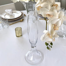 Load image into Gallery viewer, Clear Footed Trumpet Vase Hire - 59cmH