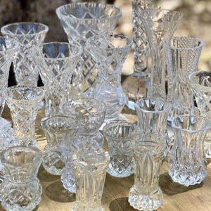 Glass Crystal Vases - Hire