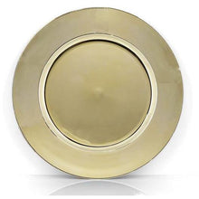 Load image into Gallery viewer, Plain Gold Mirror Finish Charger Plate Hire - Brisbane - LANE 88