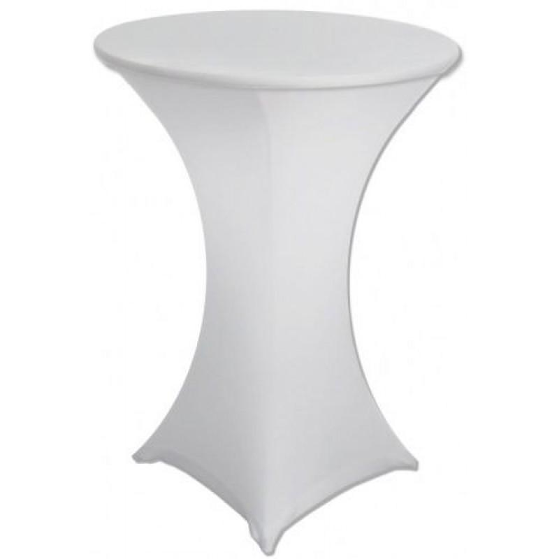White Fitted Dry Bar Cover - Lycra Hire Brisbane 60cmD x 70cmH | LANE 88