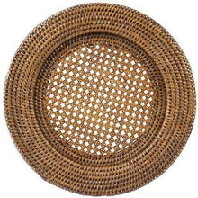 Load image into Gallery viewer, rattan-charger-plate-hire-brown-dianna-lynn-decor