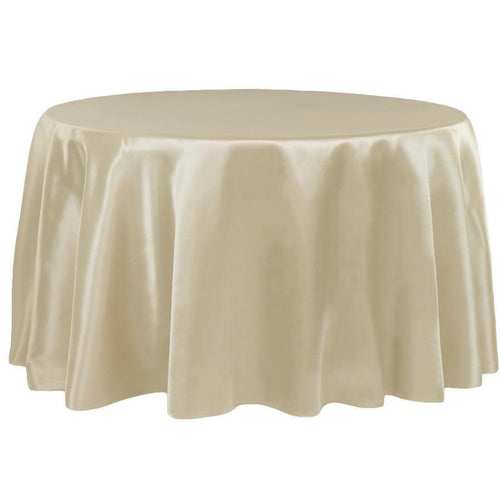 Satin 132 Round Tablecloth - Champagne Hire | LANE 88