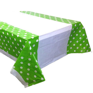 Plastic Table Cover with Polka Dots