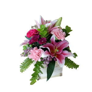 Boxed Flowers (Small) - Pretty in Pink