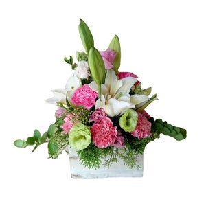 Boxed Flowers (Small) - Pastel Chic