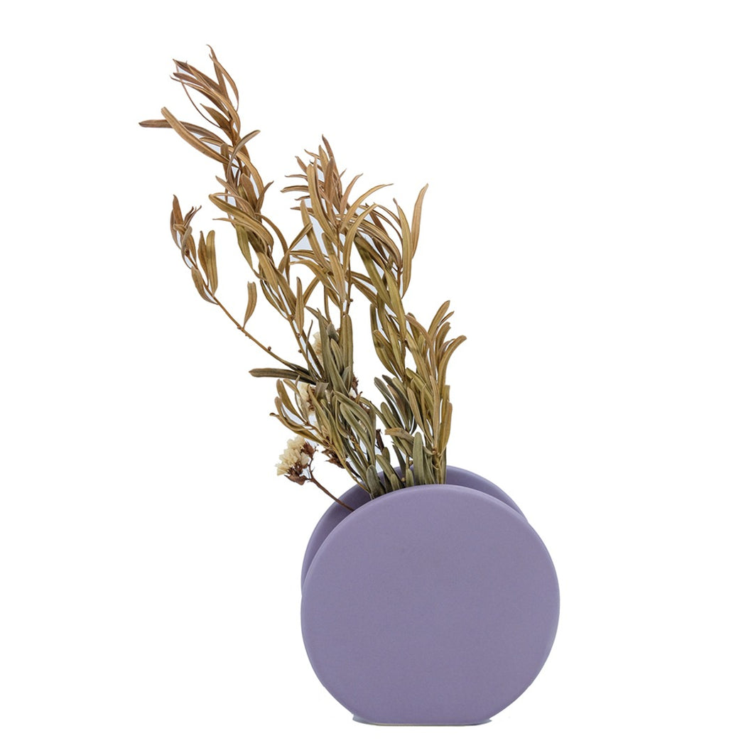Peacherino Button Vase - Taro