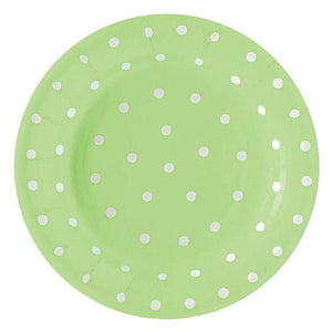 "Paper Plates with Polka Dots 9"" (10pcs)"