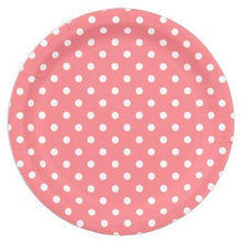 "Load image into Gallery viewer, Paper Plates with Polka Dots 9"" (10pcs)"