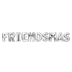 "Silver Balloon Set: ""Friendsmas"""