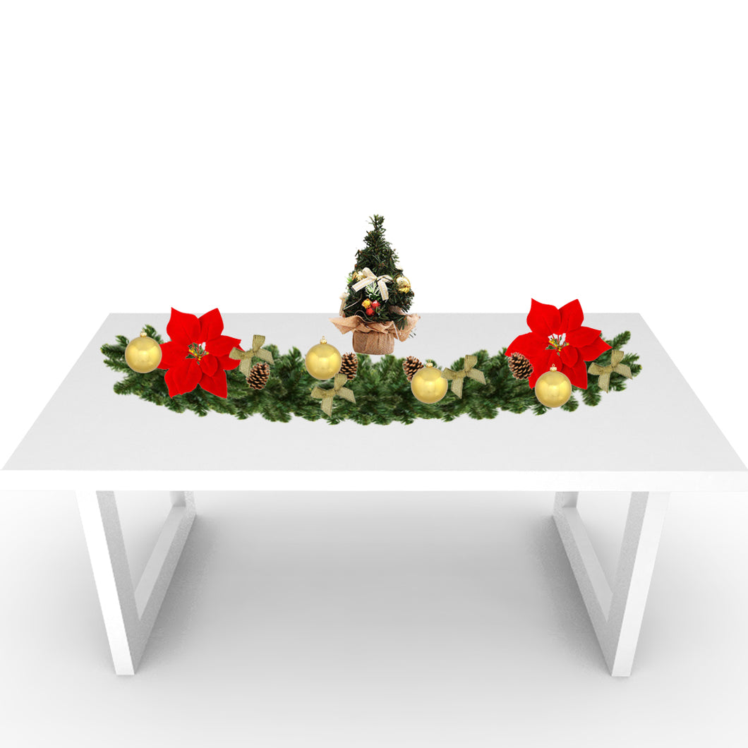 Rustic Christmas Tabletop: Gold