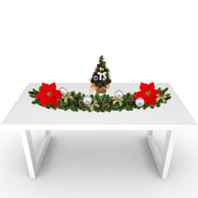 Load image into Gallery viewer, Rustic Christmas Tabletop: Silver & Purple