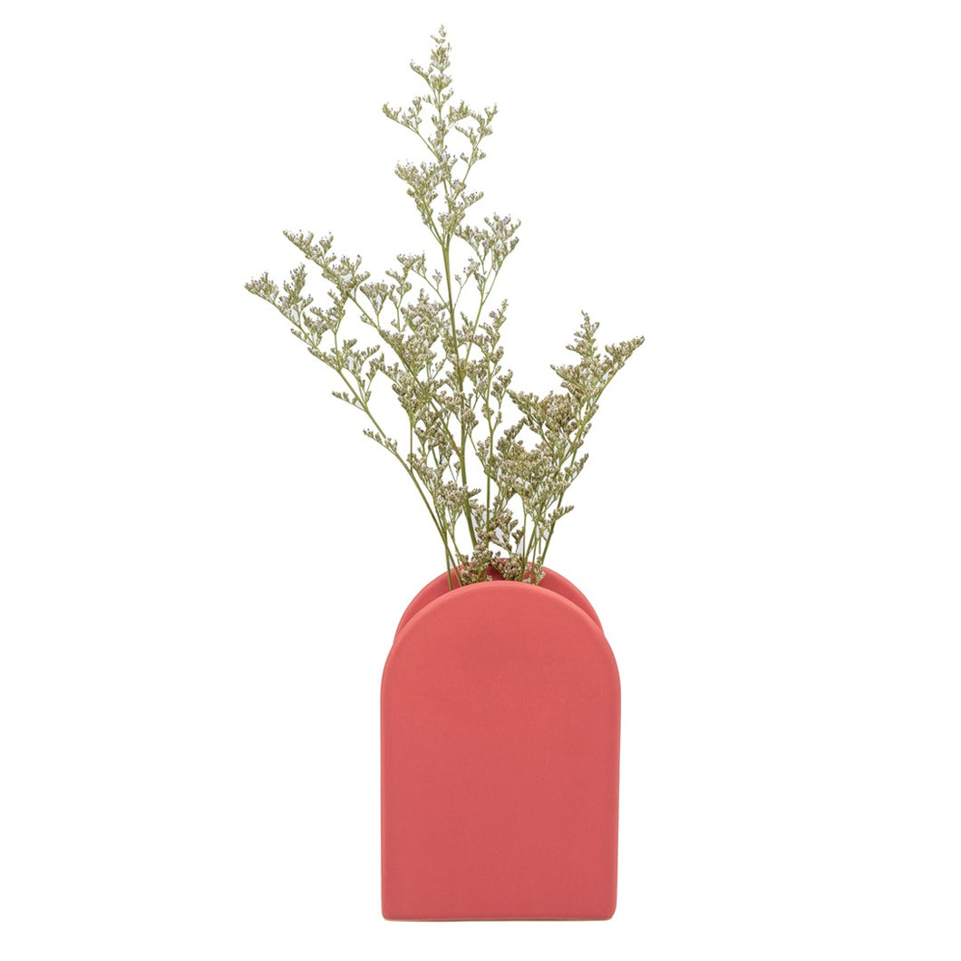 Peacherino Lantern Vase - Berry