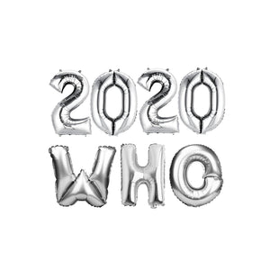 "Silver Balloon Set: ""2020 WHO"""