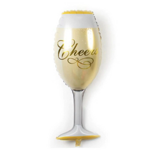 Foil Balloon Champagne Glass 36in