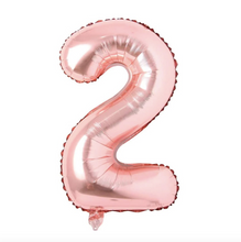 "Load image into Gallery viewer, Foil Balloon Number 32"" (Rose Gold)"