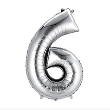 "Load image into Gallery viewer, Foil Balloon Number 32"" (Silver)"
